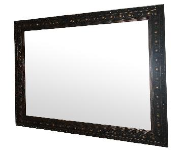 Wood Framed Mirror in Copper Finish