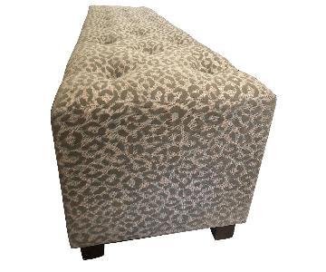 Leopard Print Upholstered Bench