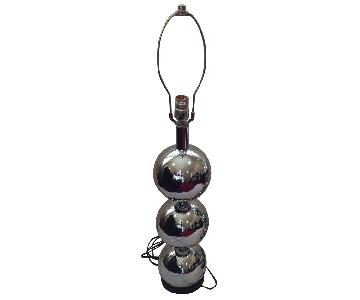 George Kovacs Chrome Ball Sphere Table Lamps