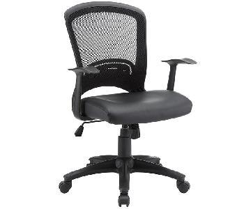 Manhattan Home Design Mesh Office Chair in Black
