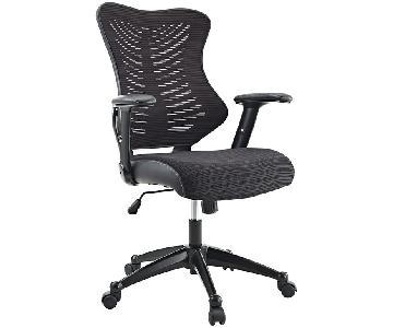 Manhattan Home Design Ergonomic Mesh Office Chair in Black