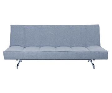 CB2 Flex Gravel Blue Sleeper Sofa