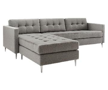 CB2 Ditto II Grey Sectional Sofa
