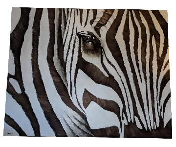 Z Gallerie Zebra Close Up Painting
