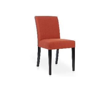 Crate & Barrel Lowe Persimmon Upholstered Dining Chairs
