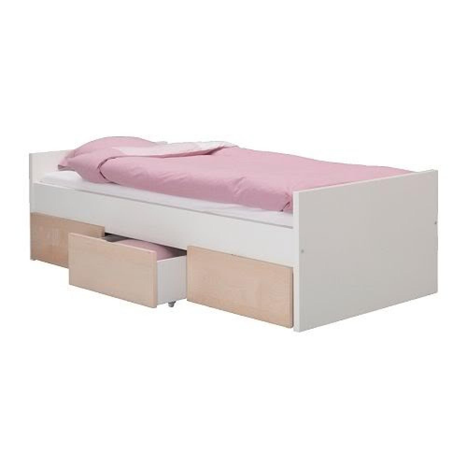 Ikea Brekke Twin Bed w/ 3 Drawers