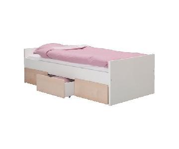 Ikea Brekke Twin Bed w/ 3 Drawers