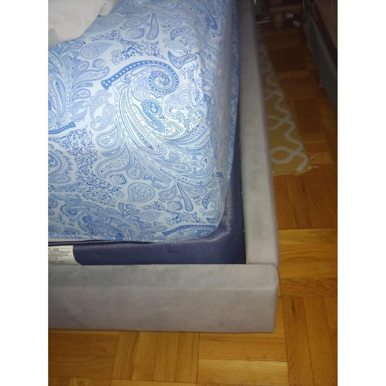 DwellStudio Linen Wingback King Bed-1