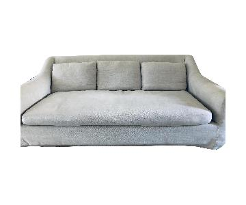 Restoration Hardware Belgian Roll Arm Slipcovered Sofa