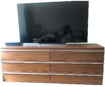 BoConcept Brown 6 Drawer Double Dresser