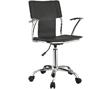 Manhattan Home Design Padded Office Chair in Black