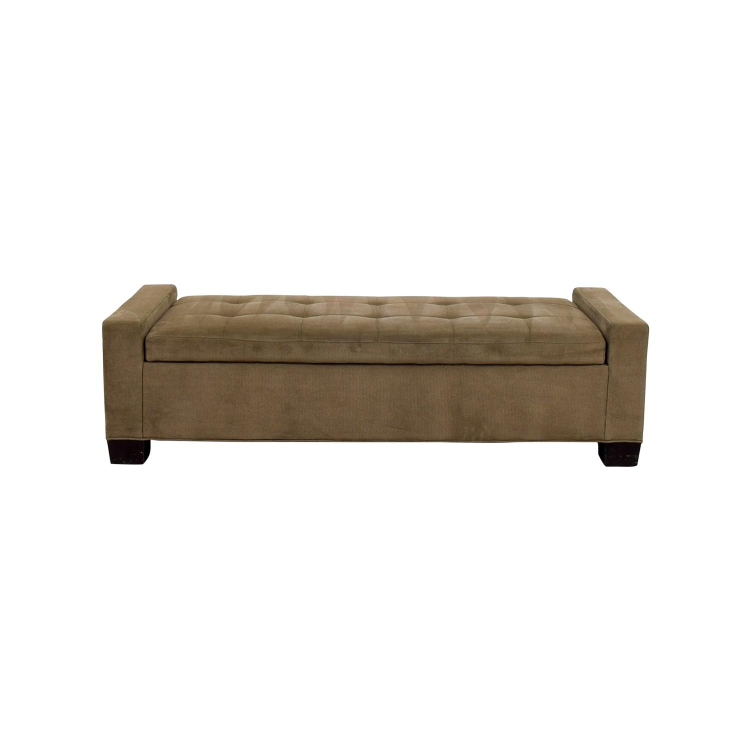 Crate & Barrel Brown Tufted Daybed/Storage Bench