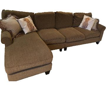 Pier 1 Brown 3-Piece Sectional Sofa
