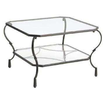 Pier 1 Chasca Glass Top Coffee Table