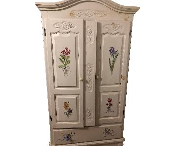 Floral Hand Painted Armoire