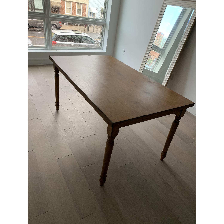 Simple Living Venus Vintage Oak Rectangle Dining Table Aptdeco
