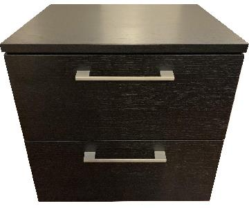 BoConcept Custom Black Oak Nightstand
