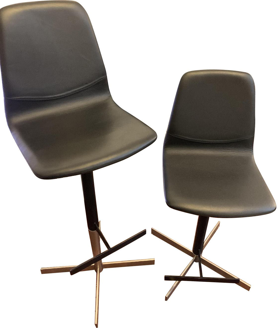 BoConcept London Bar Stools in Black Rio Leather