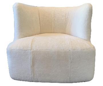 Mitchell Gold + Bob Williams Faux Fur Swivel Armchair