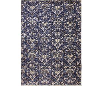 Ziegler Modesta Blue/Ivory Wool & Viscouse Rug
