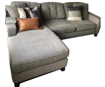Macy's Sleeper Sectional w/ Reversible Chaise