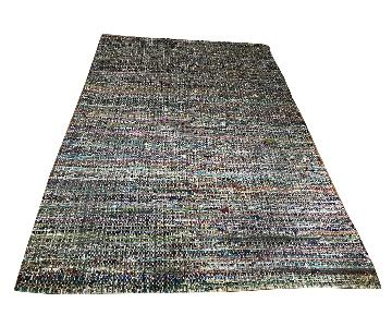 CB2 Multi-Colored Woven Area Rag Rug