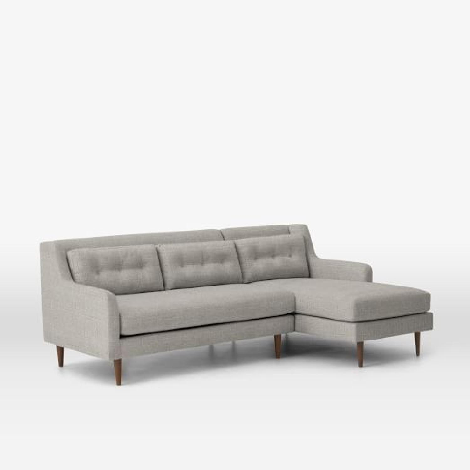 West Elm Crosby Mid-Century 2-Piece Chaise Sectional Sofa