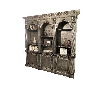 Ethan Allen Zinc Bookcase Display
