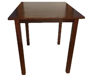 Dark Brown Wood High Top Table