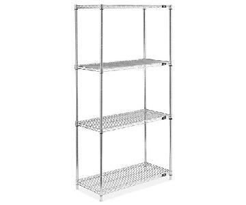 U-Line Stainless Steel Wire Shelving Unit