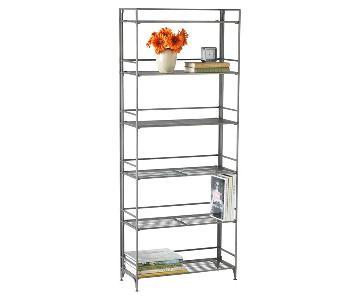 Container Store 6-Shelf Iron Folding Bookshelf