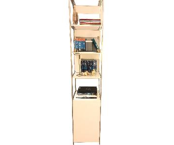 West Elm Narrow Bookshelf in White Lacquer