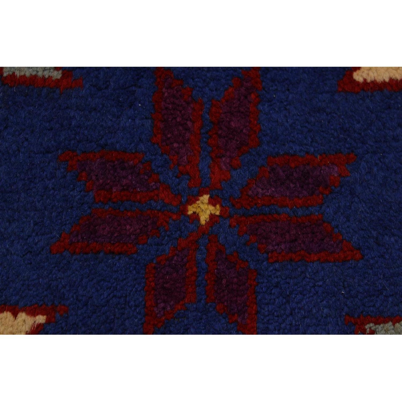 Arshs' Fine Rugs Balouchi Luigi Blue/Gray Wool Rug