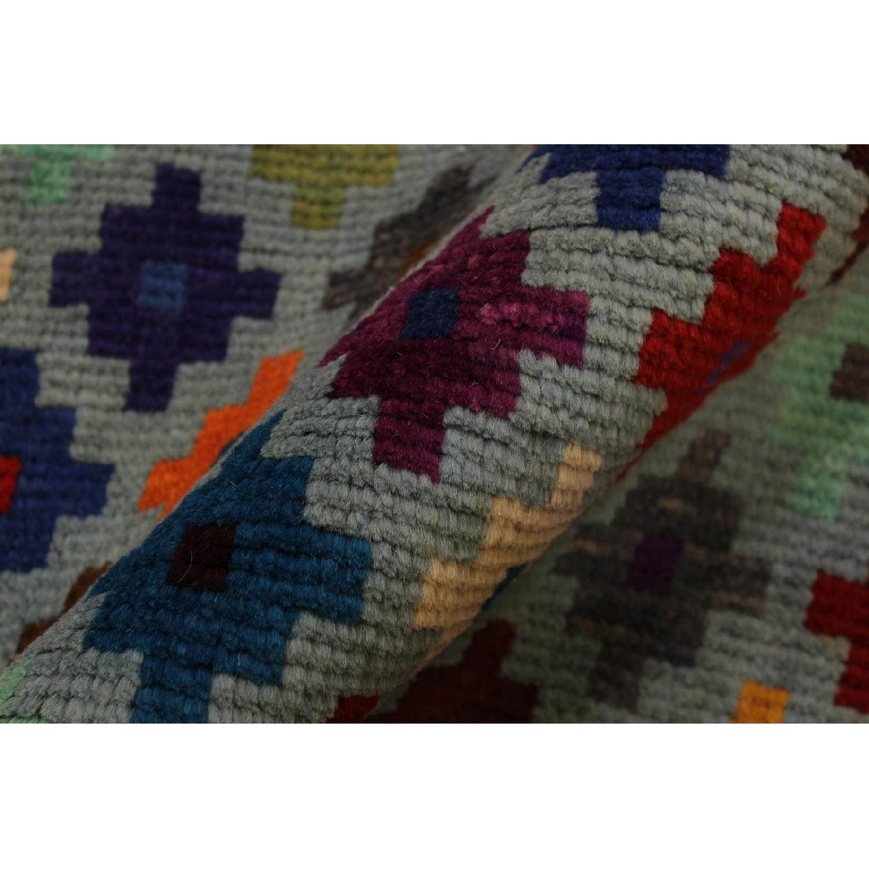Arshs' Fine Rugs Balouchi Esperanz Gray/Blue Wool Rug-0