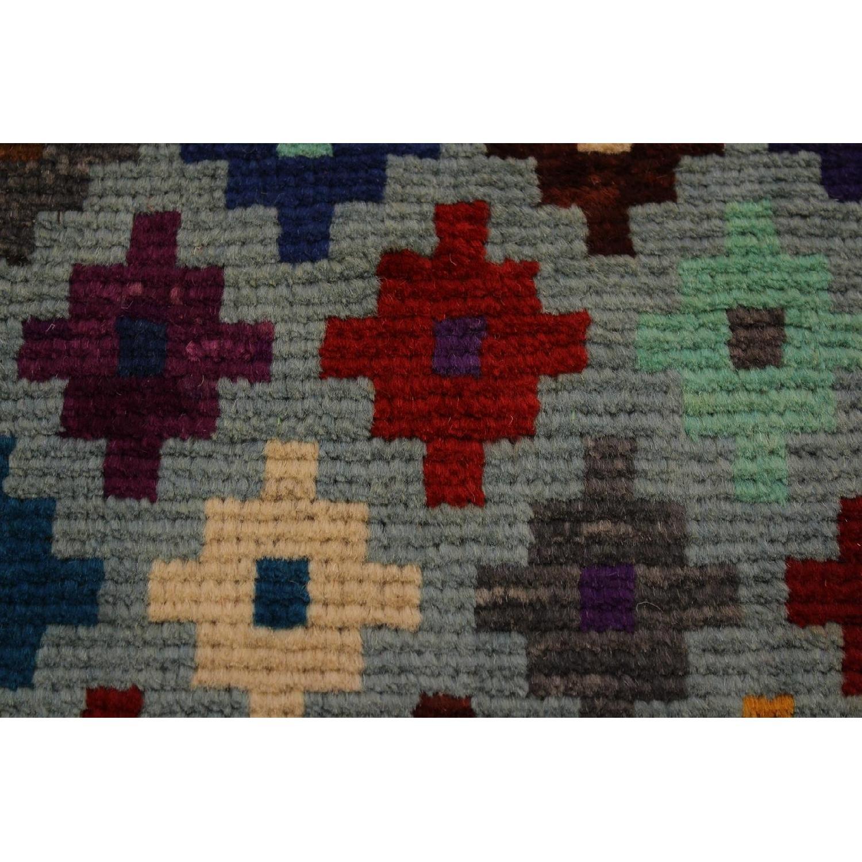 Arshs' Fine Rugs Balouchi Esperanz Gray/Blue Wool Rug-1