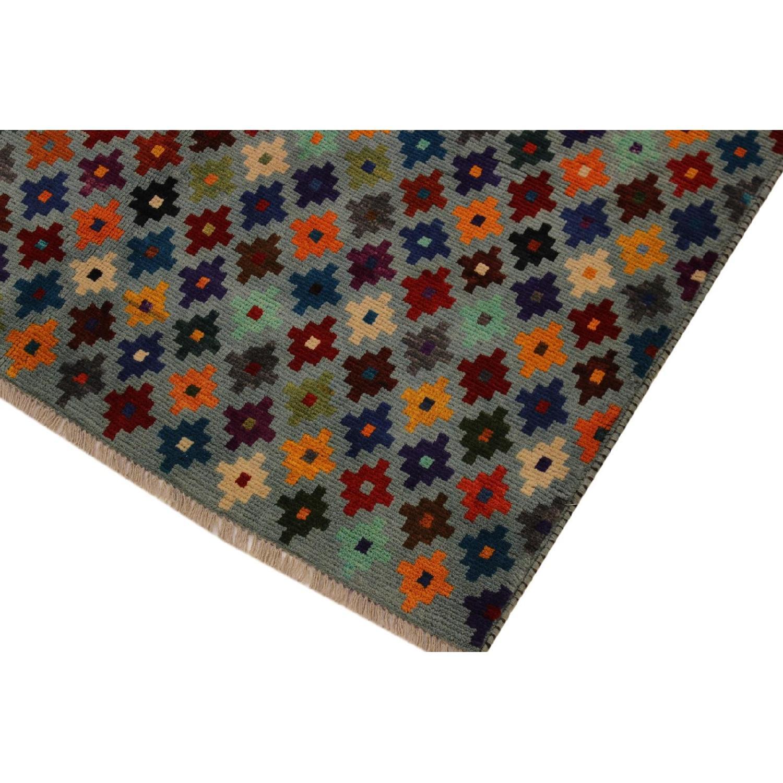 Arshs' Fine Rugs Balouchi Esperanz Gray/Blue Wool Rug-2