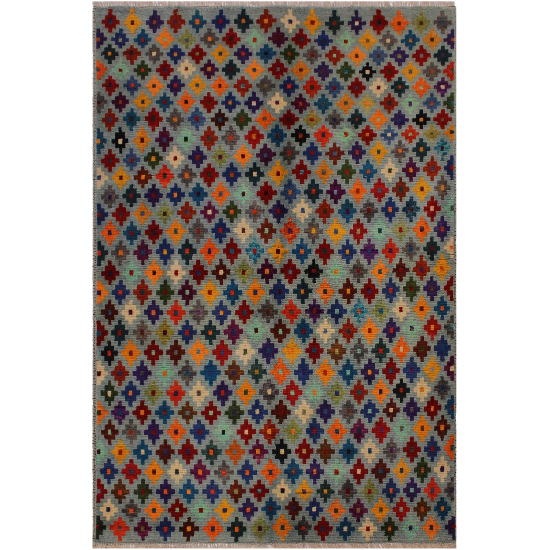 Arshs' Fine Rugs Balouchi Esperanz Gray/Blue Wool Rug