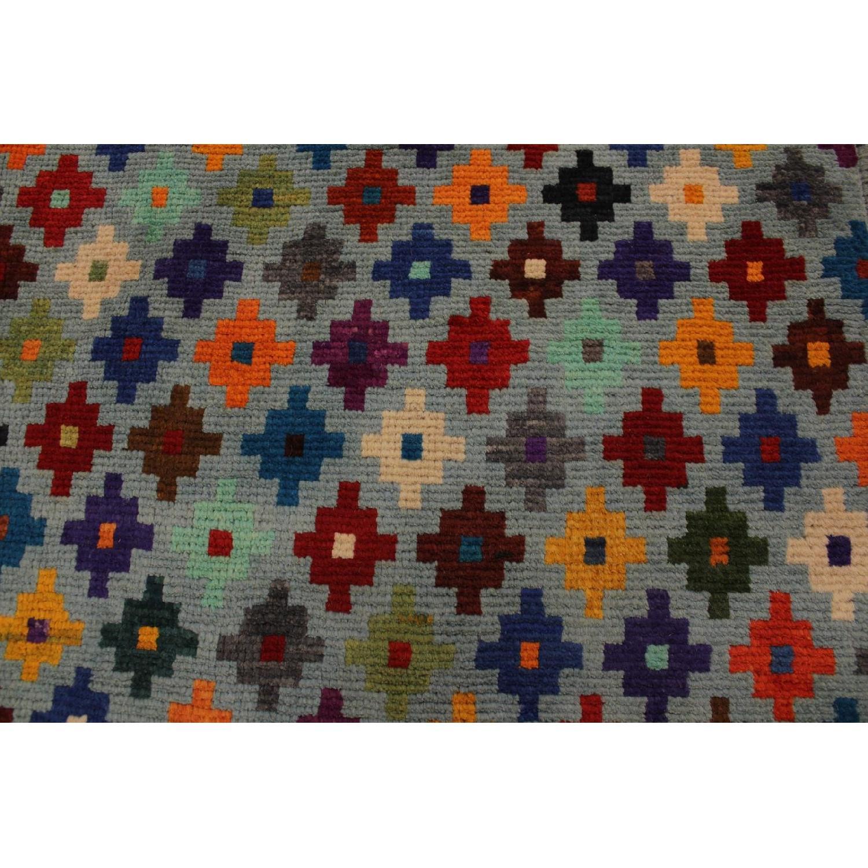 Arshs' Fine Rugs Balouchi Esperanz Gray/Blue Wool Rug-3