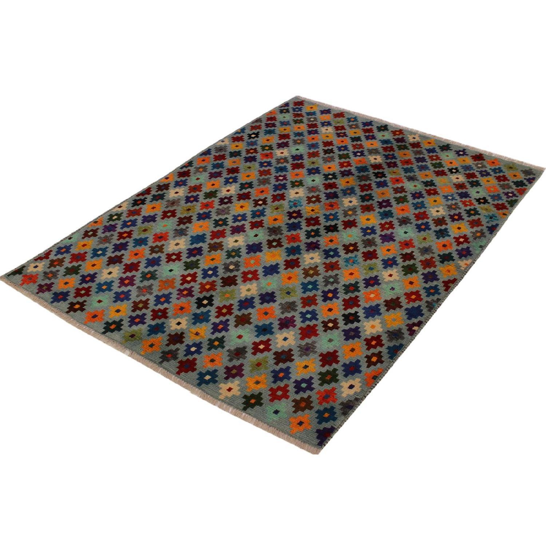 Arshs' Fine Rugs Balouchi Esperanz Gray/Blue Wool Rug-4