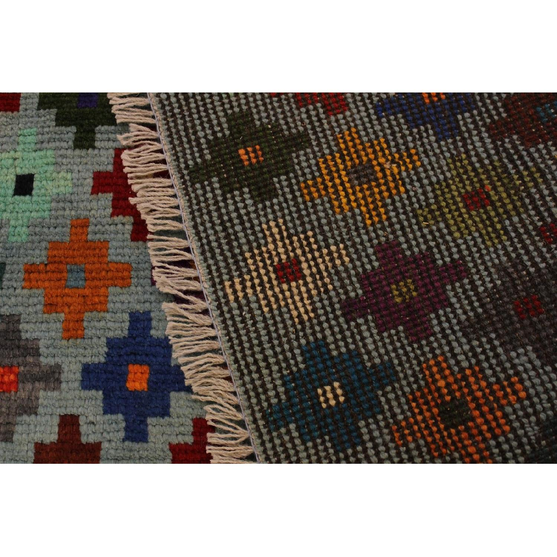 Arshs' Fine Rugs Balouchi Esperanz Gray/Blue Wool Rug-5