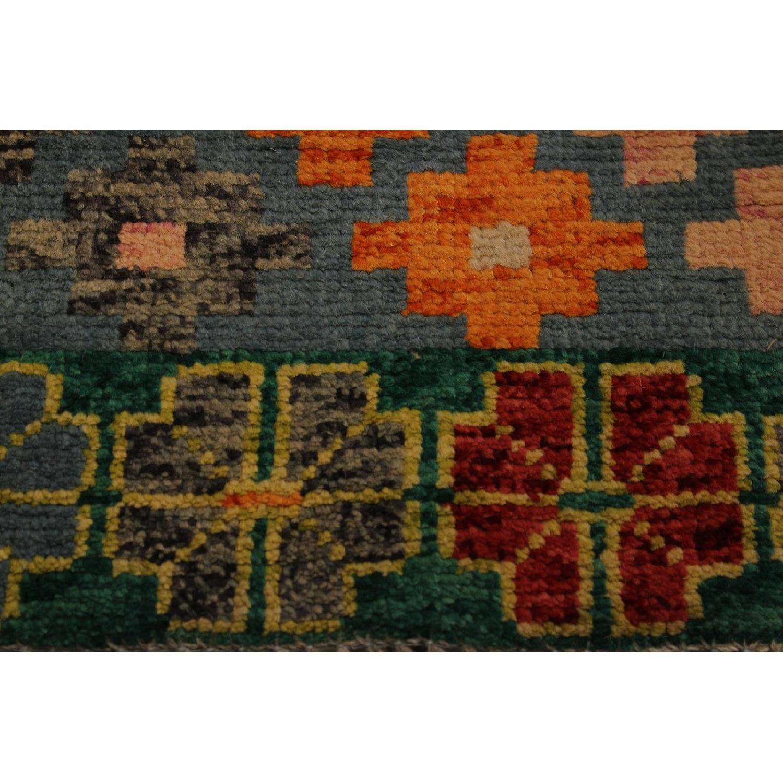 Arshs' Fine Rugs Balouchi Francois Gray/Green Wool Rug-0