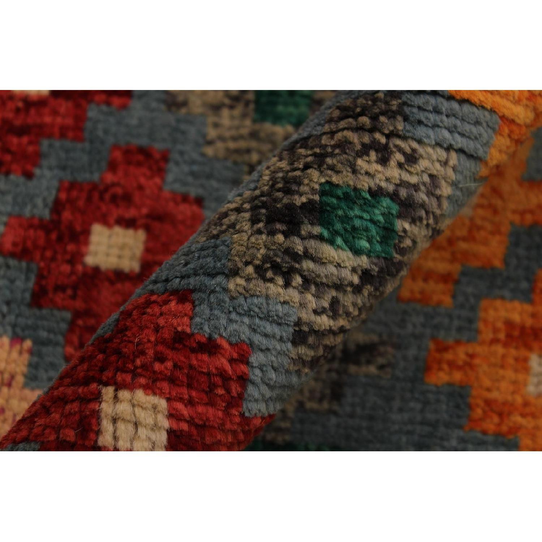 Arshs' Fine Rugs Balouchi Francois Gray/Green Wool Rug-1