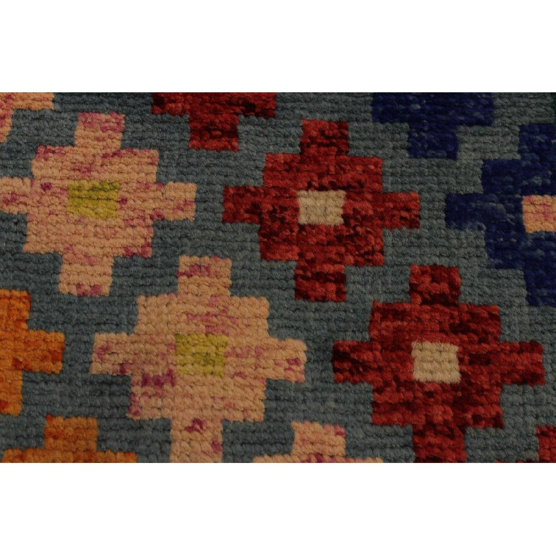 Arshs' Fine Rugs Balouchi Francois Gray/Green Wool Rug-3