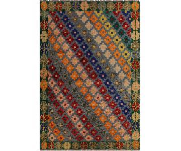 Arshs' Fine Rugs Balouchi Francois Gray/Green Wool Rug