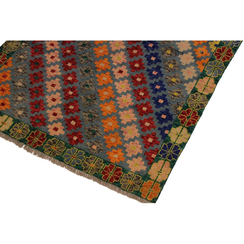 Arshs' Fine Rugs Balouchi Francois Gray/Green Wool Rug-5