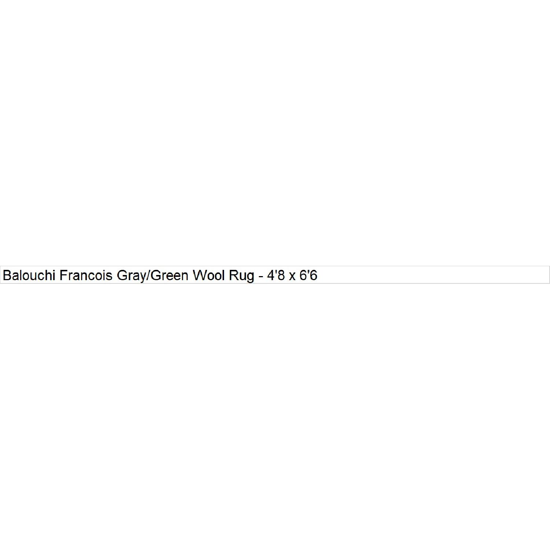 Arshs' Fine Rugs Balouchi Francois Gray/Green Wool Rug-6