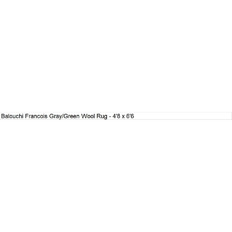 Arshs' Fine Rugs Balouchi Francois Gray/Green Wool Rug-9