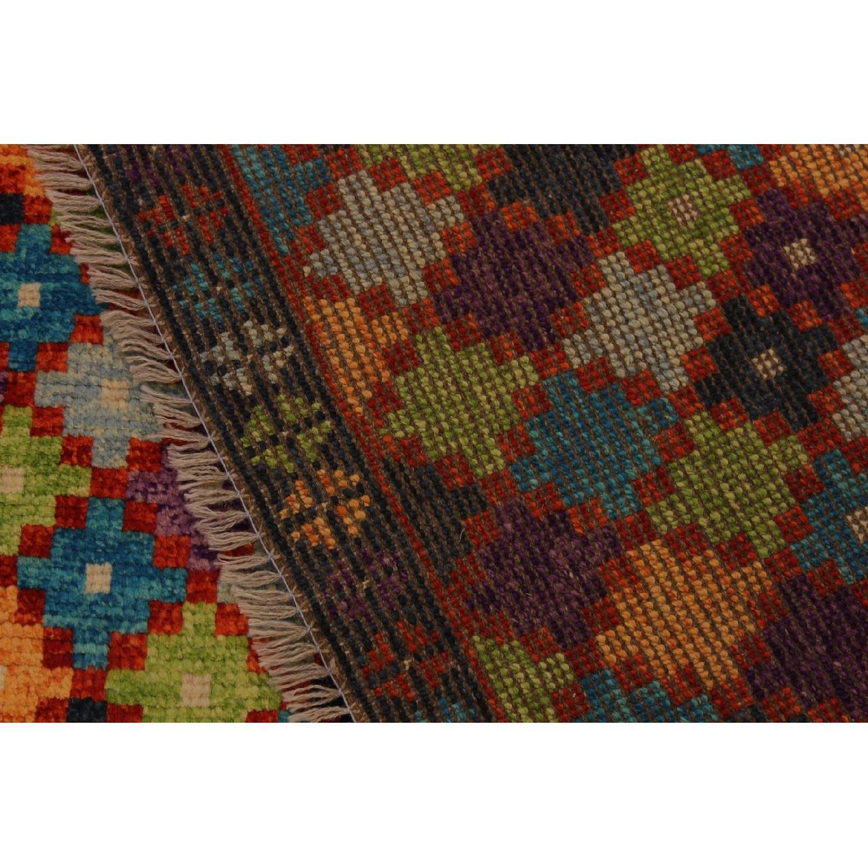 Arshs' Fine Rugs Balouchi Frederic Black/Orange Wool Rug