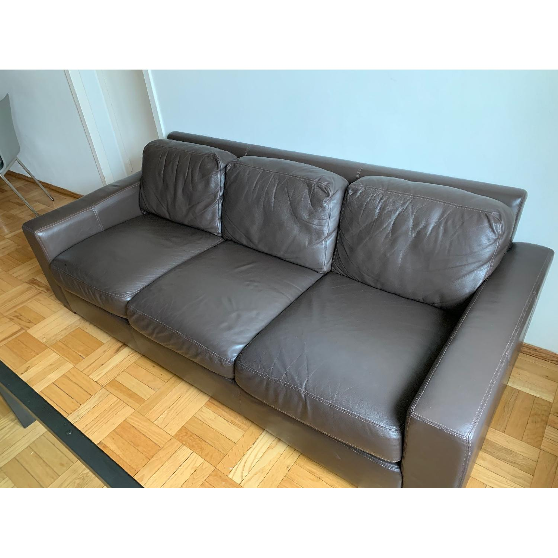 Design Within Reach Portola Leather Sofa - image-1