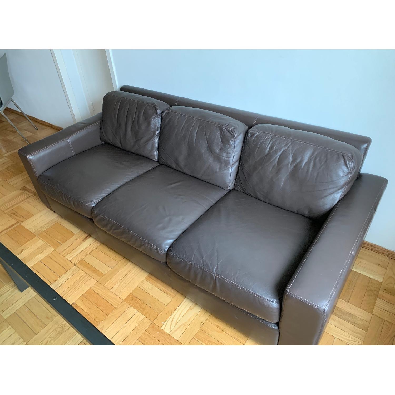 Design Within Reach Portola Leather Sofa - image-6